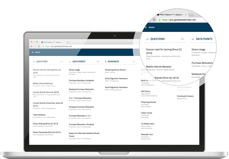 New Search on PRO Platform